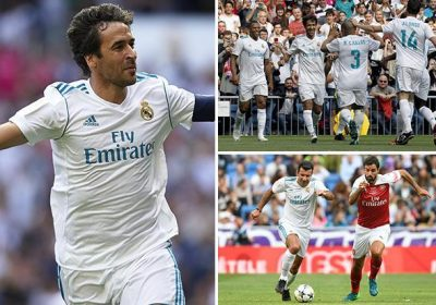 005ce0b5a51 Real Madrid 2 Arsenal 1 legends  Raul and Guti strike to win ninth edition  of charity match against Robert Pires and Co