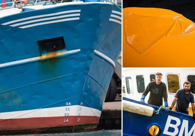 Brit trawlers reveal damage after scallops war    as French dirty