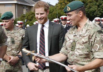 The Duke Of Sussex Arrived In Style To Meet New Marine