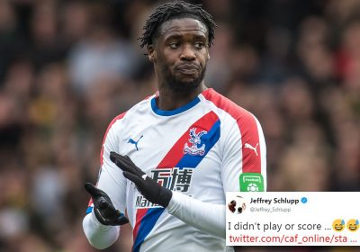 Crystal Palace's Schlupp baffled as he is credited with
