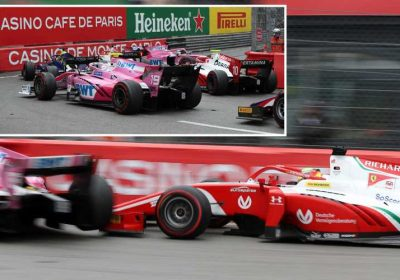 Michael Schumacher's son Mick causes pile up after crashing in F2